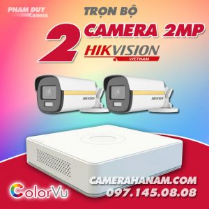 Bộ 2 camera Hikvision 2MP Full Color