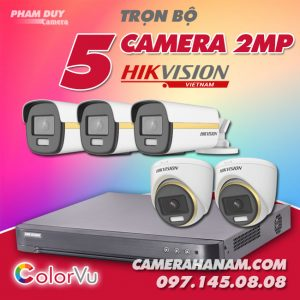 Bộ 5 camera Hikvision 2MP Full Color