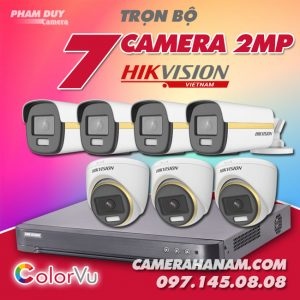 Bộ 7 camera Hikvision 2MP Full Color